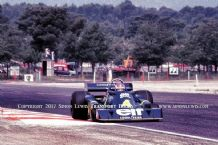 Tyrrell P34 6 wheeler F1 car, Patrick Depailler. French GP  F1 1976 .colour